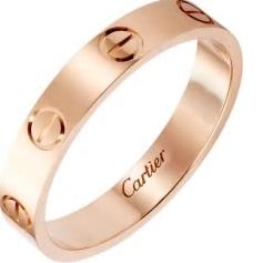 ペアリング人気ブランド Cartire(カルティエ) 女性の憧れのハイブランド/ピンクゴールド